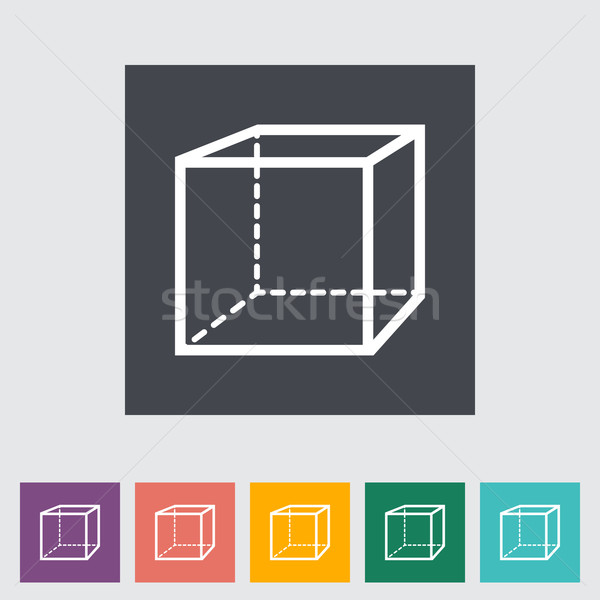 Geométrico cubo educação caixa ciência pintura Foto stock © smoki