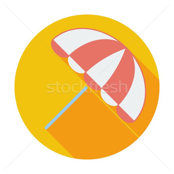 Güneş şemsiyesi renk ikon plaj deniz yaz Stok fotoğraf © smoki