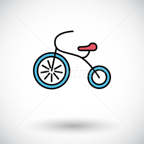 üç tekerlekli bisiklet ikon vektör web hareketli uygulamaları Stok fotoğraf © smoki