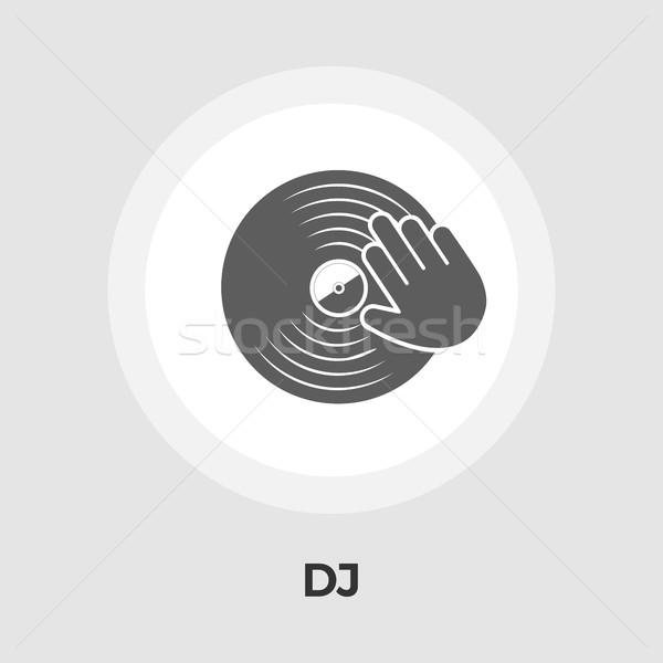 Vinyl schijf icon hand vector geïsoleerd Stockfoto © smoki
