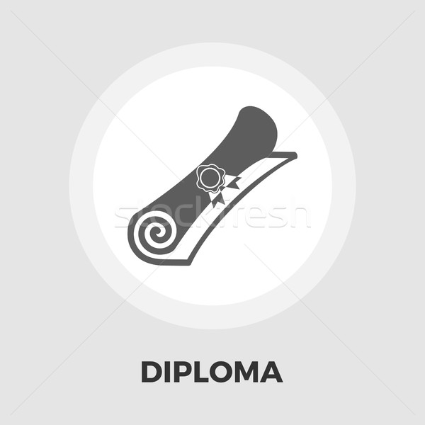 Diploma ikon vektör yalıtılmış beyaz düzenlenebilir Stok fotoğraf © smoki