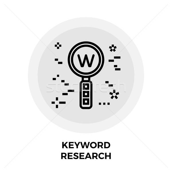 Kulcsszó kutatás vonal ikon vektor izolált Stock fotó © smoki