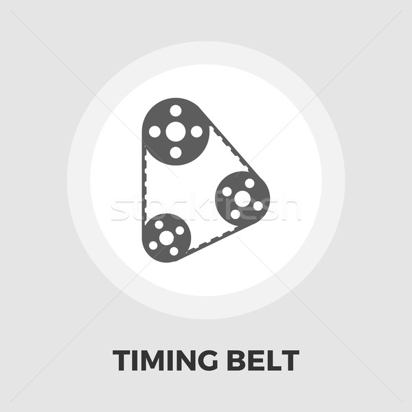 Timing belt icon flat Stock photo © smoki