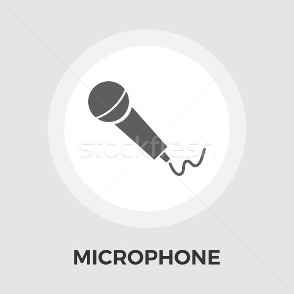 Microphone flat icon Stock photo © smoki