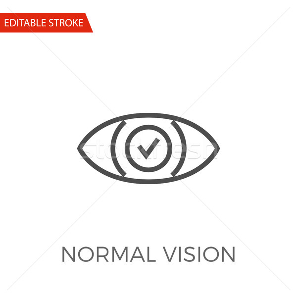 Normal Vision Vector Icon Stock photo © smoki
