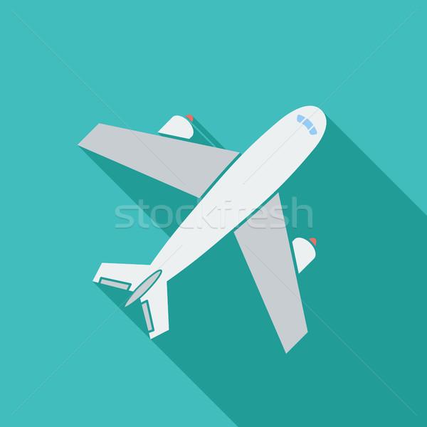 Luchthaven icon vector lang schaduw web Stockfoto © smoki