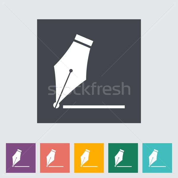 Nib flat icon Stock photo © smoki