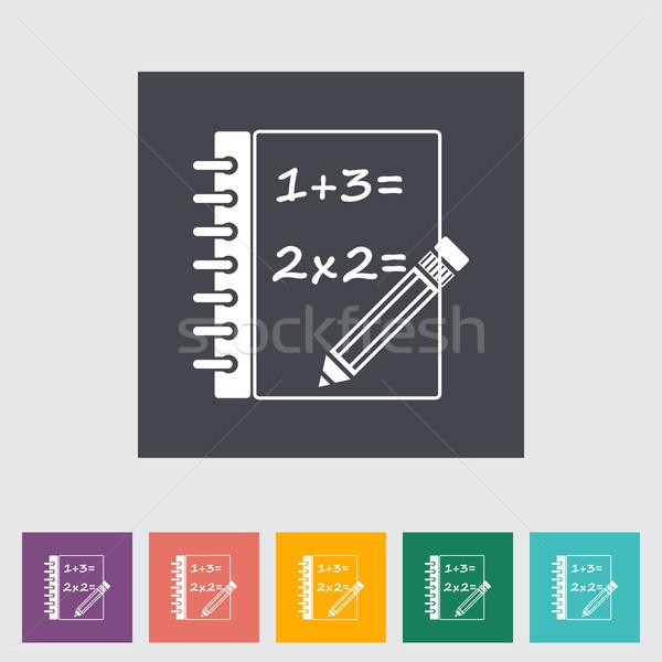 Stock fotó: Matematika · toll · terv · diák · oktatás · ír