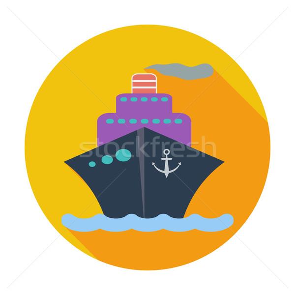 Gemi ikon renk deniz dizayn tekne Stok fotoğraf © smoki