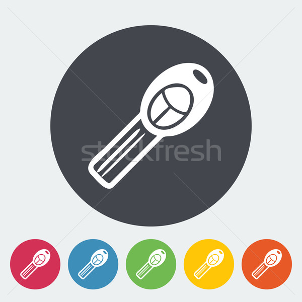 Ignition key single icon. Vector illustration. Stock photo © smoki