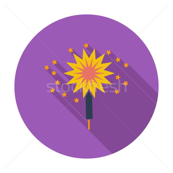 бенгальский огонь цвета икона искусства весело звездой Сток-фото © smoki
