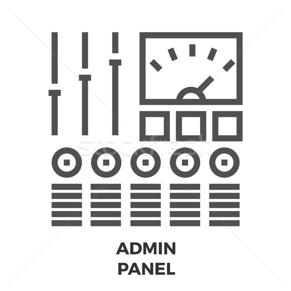 Administración panel línea icono delgado vector Foto stock © smoki