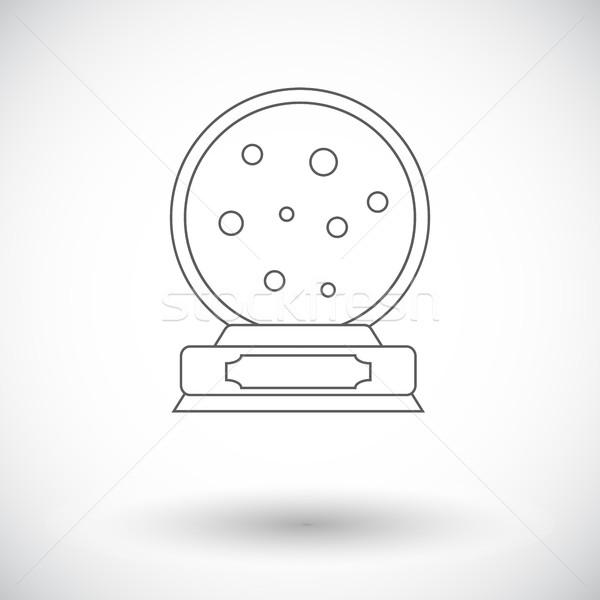 Navidad nieve cúpula vector icono web Foto stock © smoki
