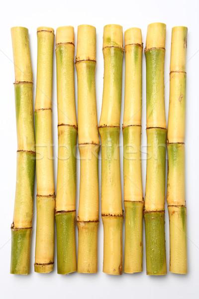 Surowy cukier trzcinowy odizolowany biały zielone środowisk Zdjęcia stock © smuay