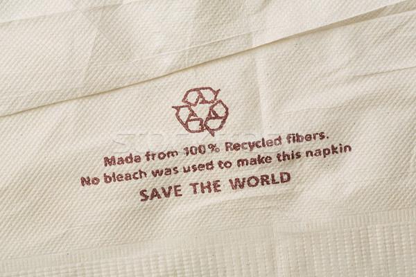 Recycled fibers napkin Stock photo © smuay