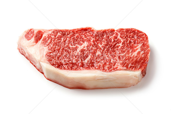 Wagyu striploin steak isolated on white Stock photo © smuay