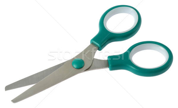 general purpose scissor (green) with clipping path  Stock photo © smuay