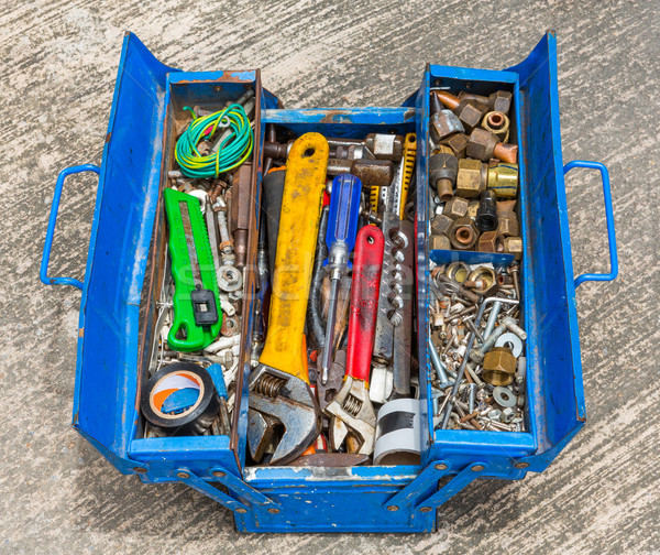 Hand Tools in box Stock photo © smuay