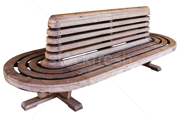 Old style railway station wood chair Stock photo © smuay