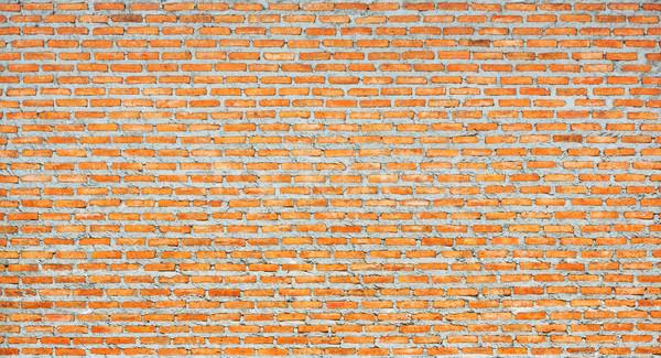 Thai piros téglafal épület fal háttér Stock fotó © smuay
