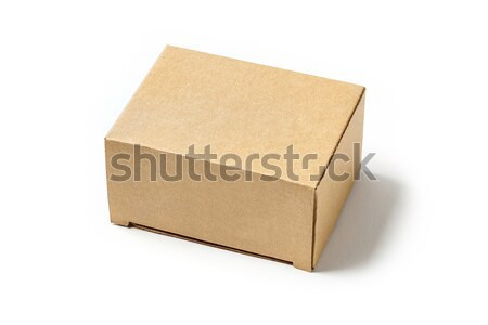 Carton box isolated on white Stock photo © smuay