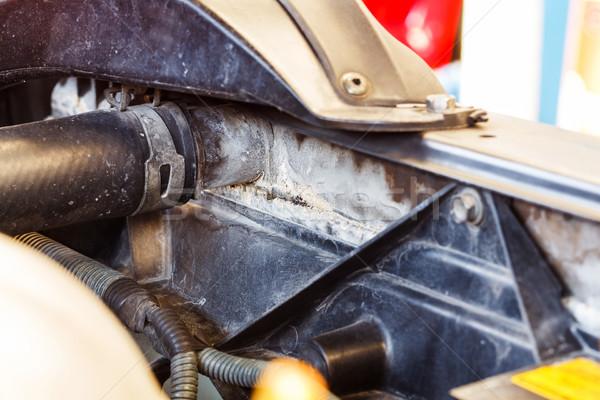 Araba radyatör kirli leke otomotiv Stok fotoğraf © smuay