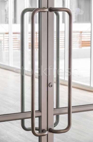 Glass door handle Stock photo © smuay