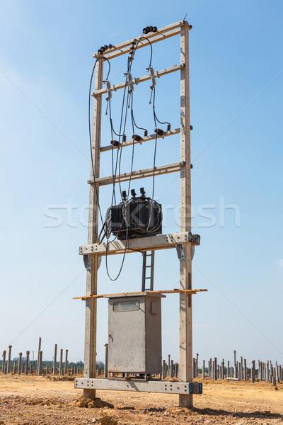 電気 トランス 新しい 建設現場 技術 ネットワーク ストックフォト © smuay