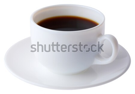 Coffee cup and plate with clipping path  Stock photo © smuay