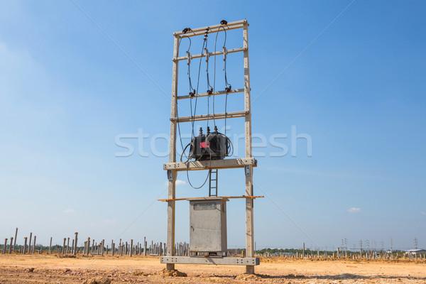 Elektrik transformatör yeni teknoloji ağ Stok fotoğraf © smuay