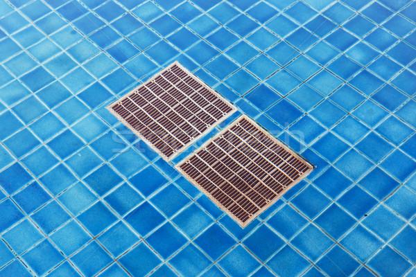 Piscina drenar grade fundo azul Foto stock © smuay