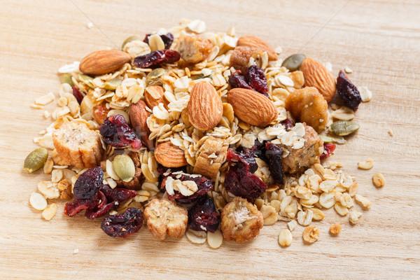 グラノーラ ミューズリー 木製のテーブル フルーツミックス 健康食品 ストックフォト © smuay