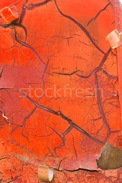 Vermelho cor rachado pintar textura Foto stock © smuay