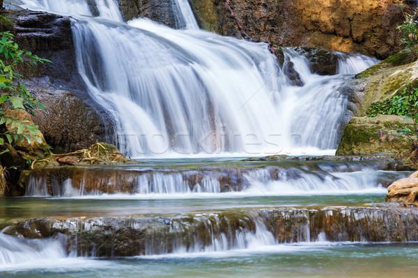Cascada parque Tailandia naturaleza agua árbol Foto stock © smuay