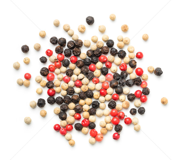 Colorful peppercorn isolated on white background Stock photo © smuay