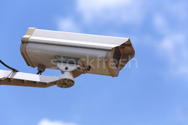 Televízió biztonsági kamera fehér cctv 24 néz Stock fotó © smuay