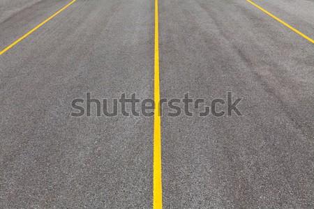 Aszfalt út fekete szín citromsárga vonal Stock fotó © smuay