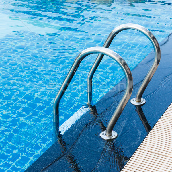 Swimming pool hand rails Stock photo © smuay
