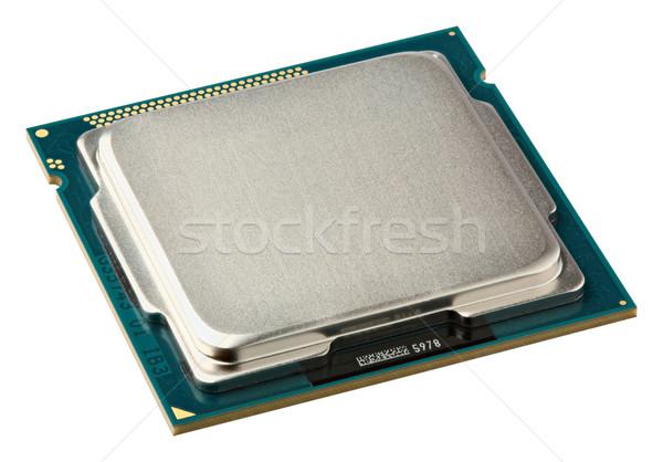 Cpu isolato bianco tecnologia server Foto d'archivio © smuay