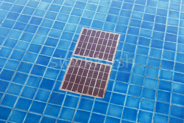 Pool drain grid Stock photo © smuay