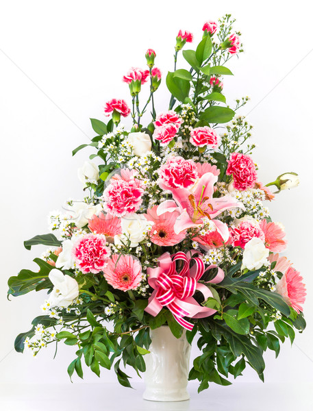 Bouquet of carnation lily and Gerbera Stock photo © smuay