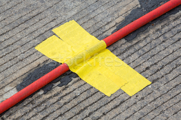 Yellow cloth adhesive tape Stock photo © smuay