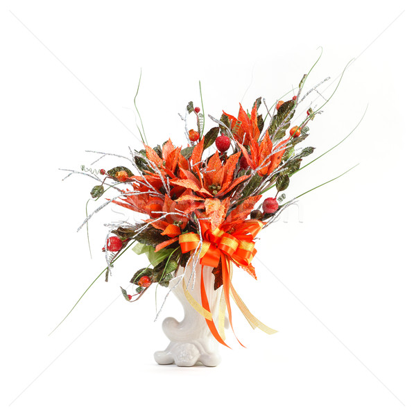 Artificial or imitation flower bouquet in ceramic vase Stock photo © smuay
