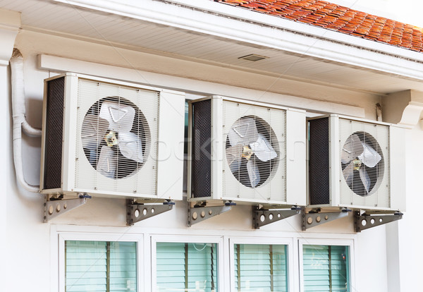 Air conditioner installation Stock photo © smuay