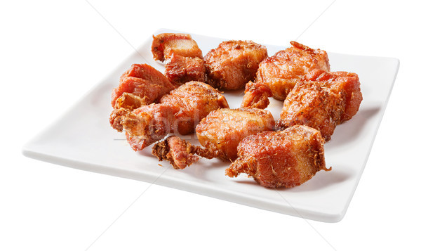 Deep fried streaky pork with herb Stock photo © smuay