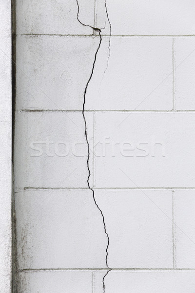 Cracked concrete wall Stock photo © smuay