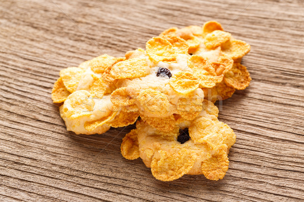 Homemade cornflakes cookies Stock photo © smuay