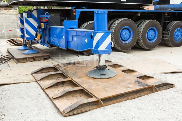 Stock fotó: állvány · nehéz · kötelesség · acél · építkezés · autó