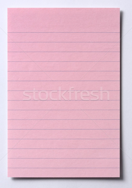 Rózsaszín levélpapír vonalak randevú izolált fehér Stock fotó © smuay