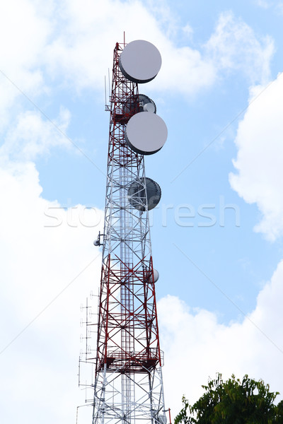 Transmission towers  Stock photo © smuay